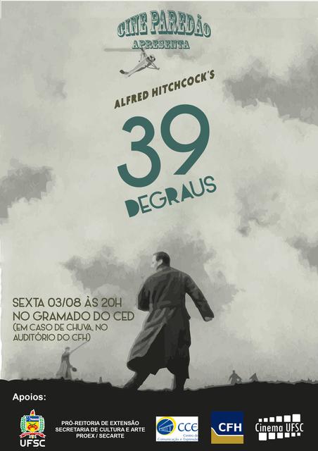 Cine Paredão apresenta o filme 39 Degraus @ UFSC
