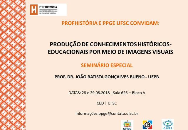 Cartaz divulgação Seminário Especial PPGE UFSC