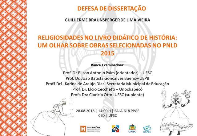 Cartaz divulgação defesa Guilherme Braunsperger de Lima Vieira