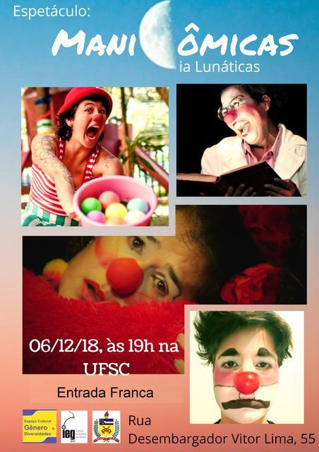 """Espetáculo """"Manicômicas"""" @ Espaço Cultural Gênero e Diversidades – IEG"""