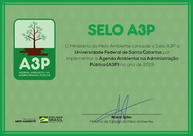 Selo A3P - Universidade Federal de Santa Catarina
