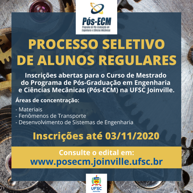 Flyer seletivo pós ECM