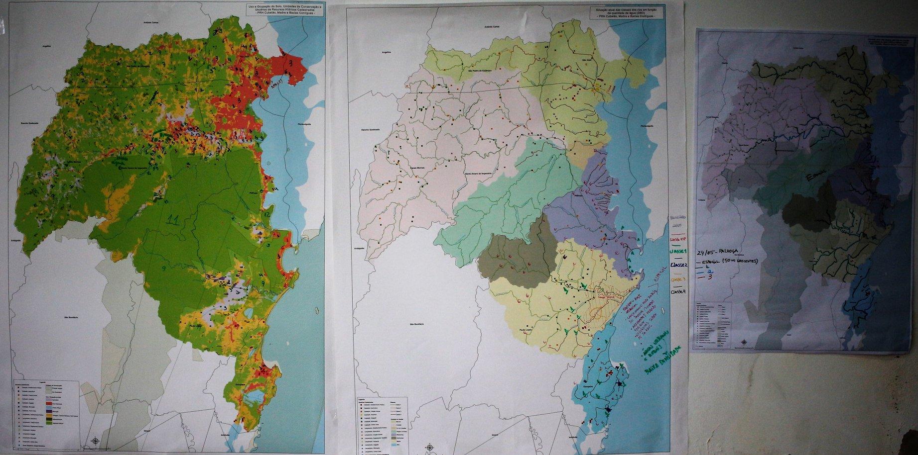 Mapas oficinas Plano de Bacia